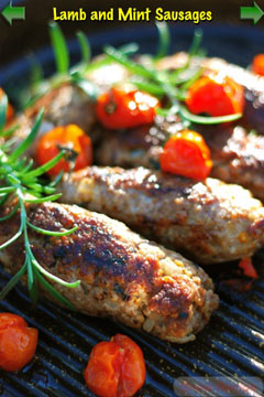 lamb mint sausages